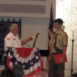 Jerry VanHecke, Detachment Boy Scout Liasion and Nathan T Andrea, 16 February 2013