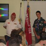Jerry VanHecke, Detachment Boy Scout Liasion and Travers Landreth 9 March 2013