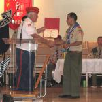 Jerry VanHecke, Detachment Boy Scout Chairperson and Mateo Pena Chaves 25 May 2013