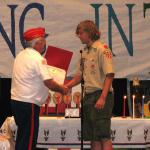 Jerry VanHecke, Eagle Scout Detachment Chairperson & Sidney Hanson, 08.10.2013