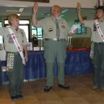 Honorable James McGarity administering the Eagle Charge and Scout Promise to Trace & Rhett Donnelly 08.20.2014