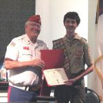 Jerry VanHecke, Detachment Boy Scout Liasion and Paul Blackmon III