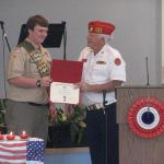 Jerry VanHecke, Detachment Boy Scout Liasion and Caleb Kimble 10.27.2012