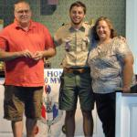 Luke Henning, Troop #2001, with Parents