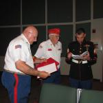 Dept of Florida Marine Corps League Adjutant--John C Marsh, Sr ET Brisson Detachment Eagle Scout Liaison -- Jerry Van Hecke USMC Recruiter--Sgt Alexander Roa