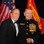 General Charles Krulak,  31st Commandant of the  United States Marine Corps and Brigadier General Thomas Draude